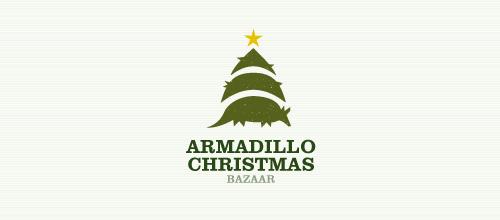 christmas-logo-design-armadillo-bazaar