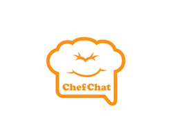 logo-design-social-network-chef-chat