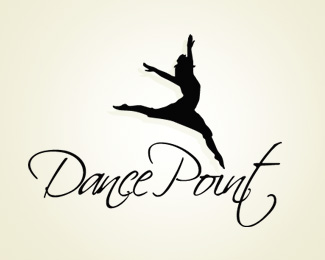silhouette-logo-design-dance-point