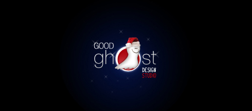 christmas-logo-design-good-ghost