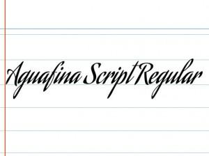 font aguafina script regular