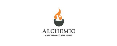 alchemic-marketing-consultants-logo-design-simbolico-descrittivo