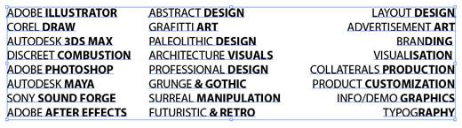 allineamento-testo-illustrator