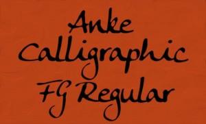 font calligrafici