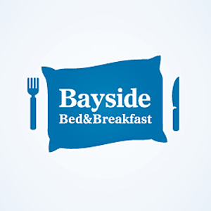 logo-design-food-delicious-tempting-bayside-bed-breakfast