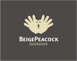 logo-design-animale-uccello-beige-peacock