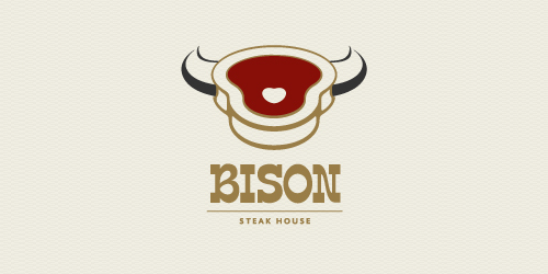 bison-steakhouse-logo-design-ristorante