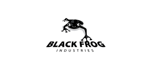 black-frog-logo-design-bianco-nero