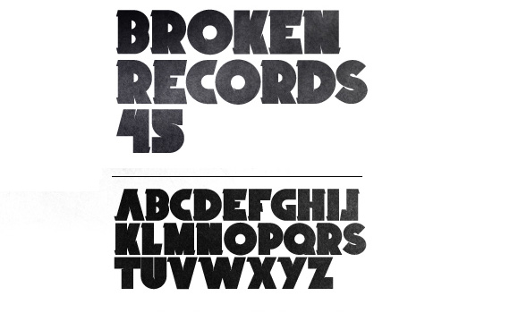 broken-records-free-font-design
