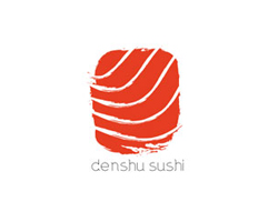logo-design-japanese-style-origami-denshu-sushi