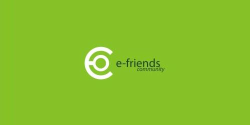 logo design green e-friends
