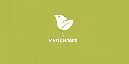 logo design green evotweet