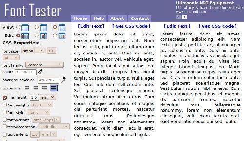 Testa i tuoi font su FontTester.com