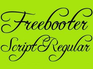font calligrafici freebooter script