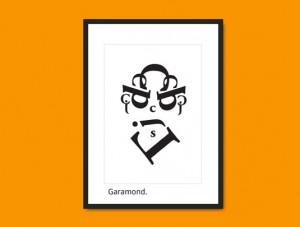 garamond face