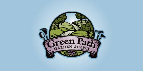 logo design green path