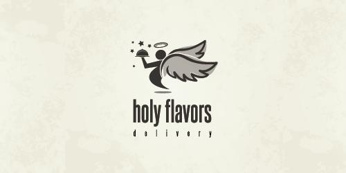holy-flavors-delivery-logo-design-ristorante