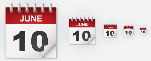 Come creare l'icona di un calendario con Illustrator