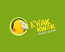 logo-design-animale-uccello-kwak