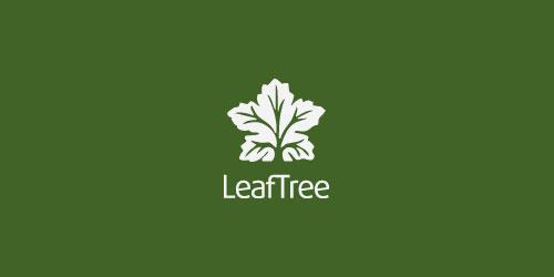 logo design green leaf tree
