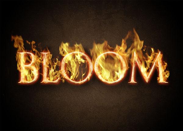 Как сделать огненные буквы в