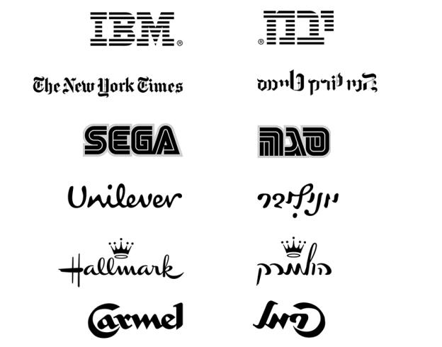 loghi ebraici