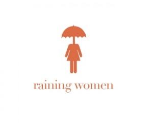 logo-design-raining-women-rain-umbrella