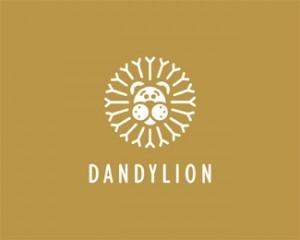 logo-design-dandylion-lion-flower