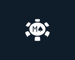 logo-design-gambling-games-poker-m-coin
