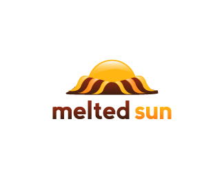 melted sun logo