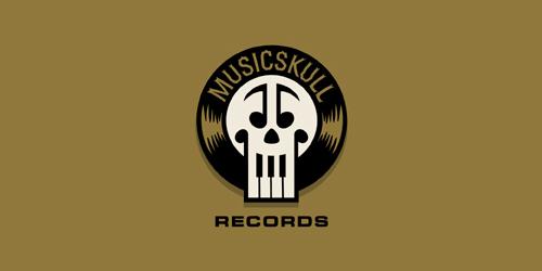 musicskull-records-logo-design-leggendario