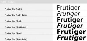 font-frutiger-design