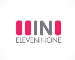 logo-number-design-negative-space-eleven-in-1