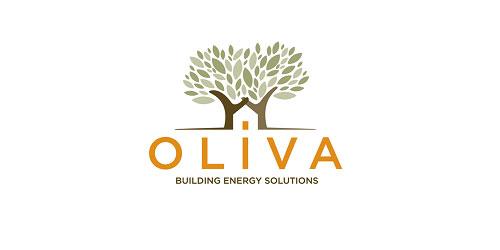 logo design green oliva building