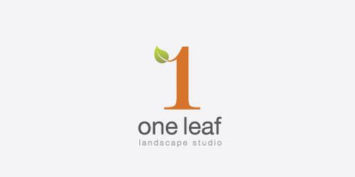 logo design green one leaf