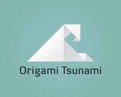 logo-design-japanese-style-origami-tsunami