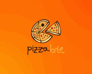 logo,design,pizza,bite,inspiration