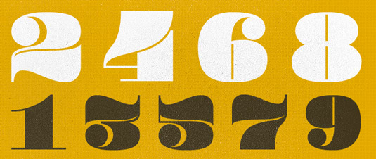 font pompadour numerals