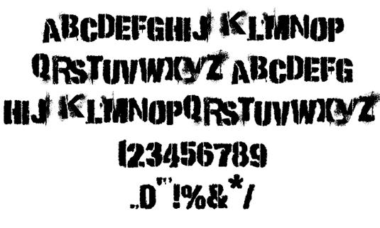punkkid font