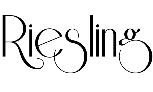 font riesling