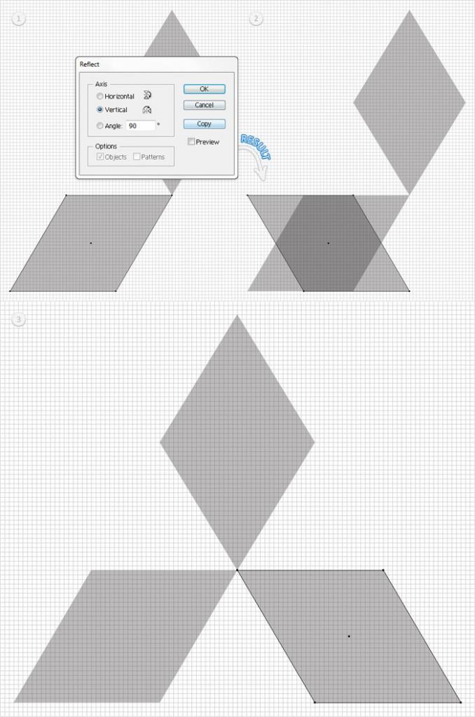 riflessione-verticale-illustrator