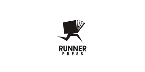 runner-press-logo-design-bianco-nero