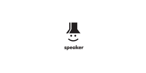 speaker-logo-design-bianco-nero