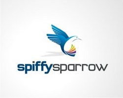 logo-design-animale-uccello-spiffy-sparrow