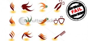logo-design-issues-image-stock