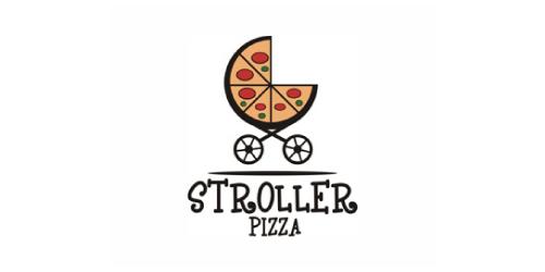 stroller-pizza-logo-design-ristorante