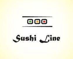 logo-design-japanese-style-origami-sushi-line