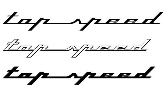 font topspeed