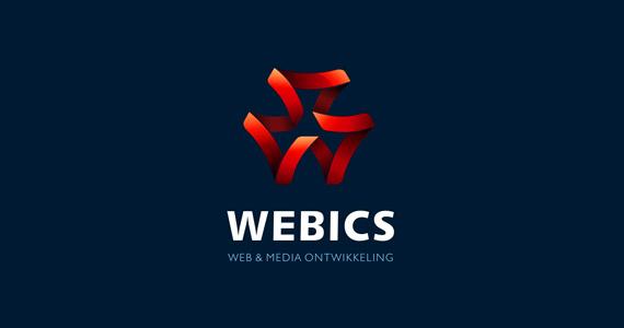 creative-gradient-3d-effect-logo-design-webics