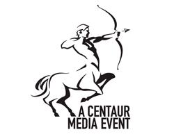 logo-design-zodiac-sagittarius-centaur-media-event